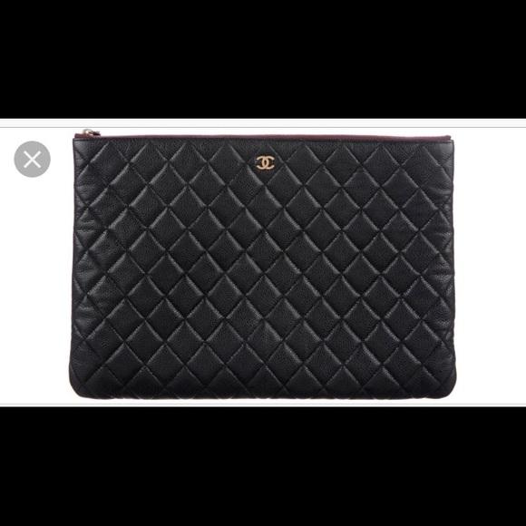 34e87b078e44 CHANEL Handbags - Chanel quilted caviar black pouch bag authentic
